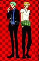 Zoro y Sanji 7 by Mel-Kuronoa15
