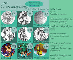 Commission Sheet by Yaraffinity