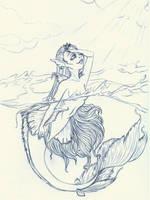 Mermaid Morning Sketch by Yaraffinity