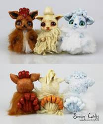 Vulpix Family Bonbuns Art Dolls FOR SALE by Sovriin