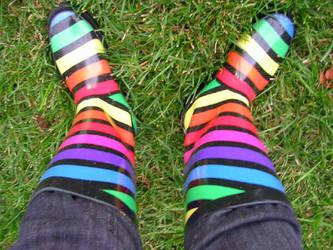 Rainbow Rainboots by Perosha