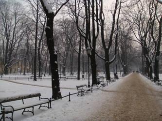 Krakow park by Perosha