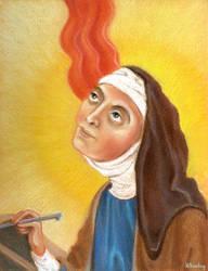 St. Hildegard von Bingen by Whiteling