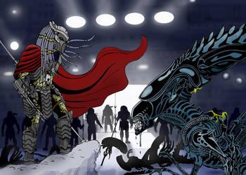 Elder predator Vs Queen by baileybrothaz