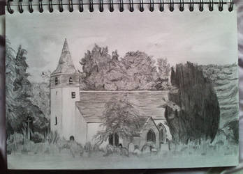 Old church drawing by stardust12345