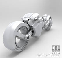 Sci Fi Bike Final Front by CatalanoMedia