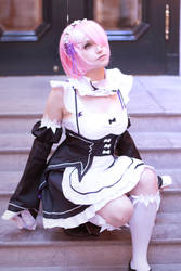 Ram from Re: Zero by kawaiilullaby