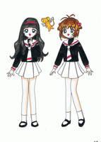 Sakura, Tomoyo and Kero by maskeraderosen