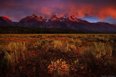 The red tetons by matthieu-parmentier