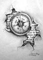 Tattoo Design - Compass by shezaniftyblonde