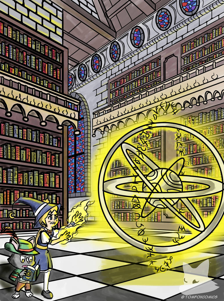 The Enchanted Library by tomfox1