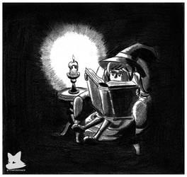 Hazel Reading by tomfox1