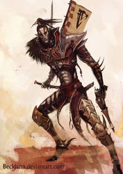 Dark Eldar: Wych 2 by Beckjann