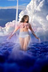 Angel's Descent by vi-ki