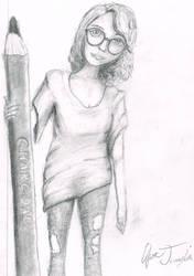 Artist Draws Artist by MrCoolJoeCool
