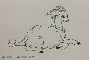 Heavenly Lamb | InkTober2017 | Day 19 by TwistDragon