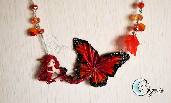 butterfly mermaid red by AngeniaC