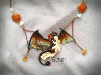 drogon and Daenerys Targaryen by AngeniaC