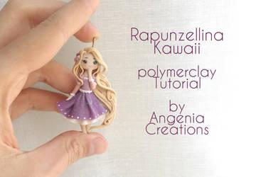 Rapunzel kawaii in polymerclay tutorial by AngeniaC
