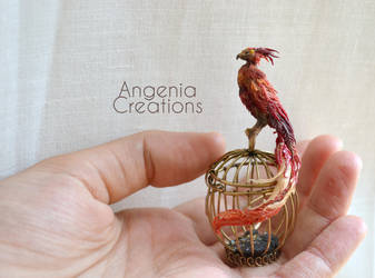 Fawkes miniature by AngeniaC