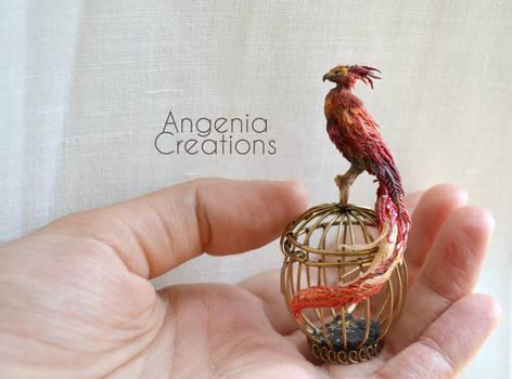 Fawkes miniature by AngeniaC