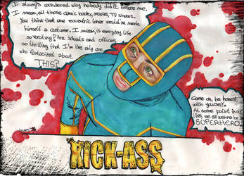 Old drawing 2014 Kick-Ass. by Mars-Boogerstein