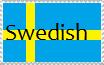 I'm Swedish Stamp by brownhairedangel