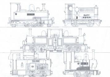TTTE #8: More Narrow Gauge Engines by Blue-J-Art