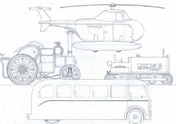 TTTE #10: The Vehicles by Blue-J-Art