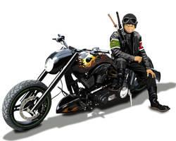 Biker Zoro by kazu3106