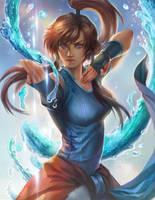 Dance with water Legend of Korra fan art by jiuge