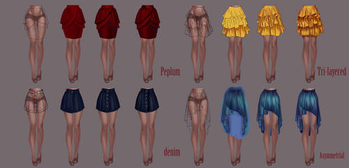 How to draw skirt part 2 by jiuge