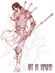 character design , kervin by jiuge