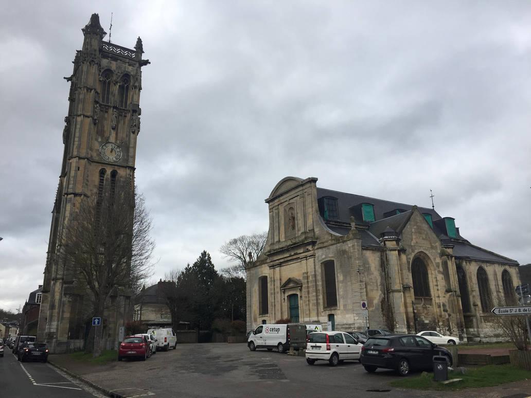 Eglise Carville de Darnetal by sewandrere