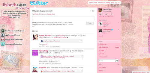 my twitter page by lizbeth1403