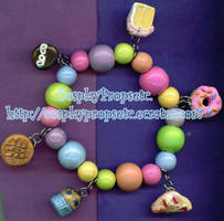 Cute food - Charm Bracelet by CosplayPropsEtc