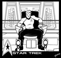 Captain Kirk 2009 Inks by stourangeau