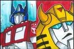 Prime - Bumblebee Sketch Cards by stourangeau