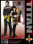 Titan's First Couple by stourangeau