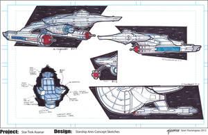 Star Trek Axanar U.S.S. Ares Concept Sketches by stourangeau