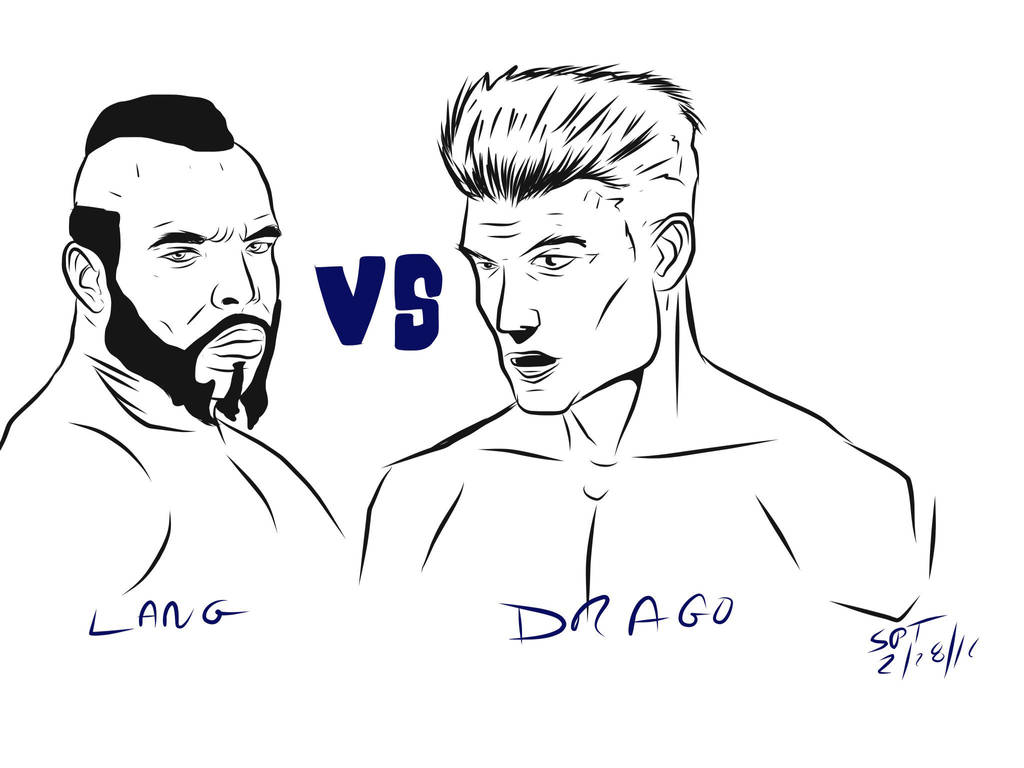 Lang vs Drago by stourangeau