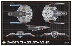 Saber Class Starship by stourangeau