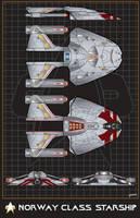 Norway Class Starship by stourangeau