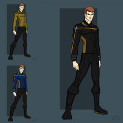 Pre-Discovery Star Trek uniform concept by stourangeau