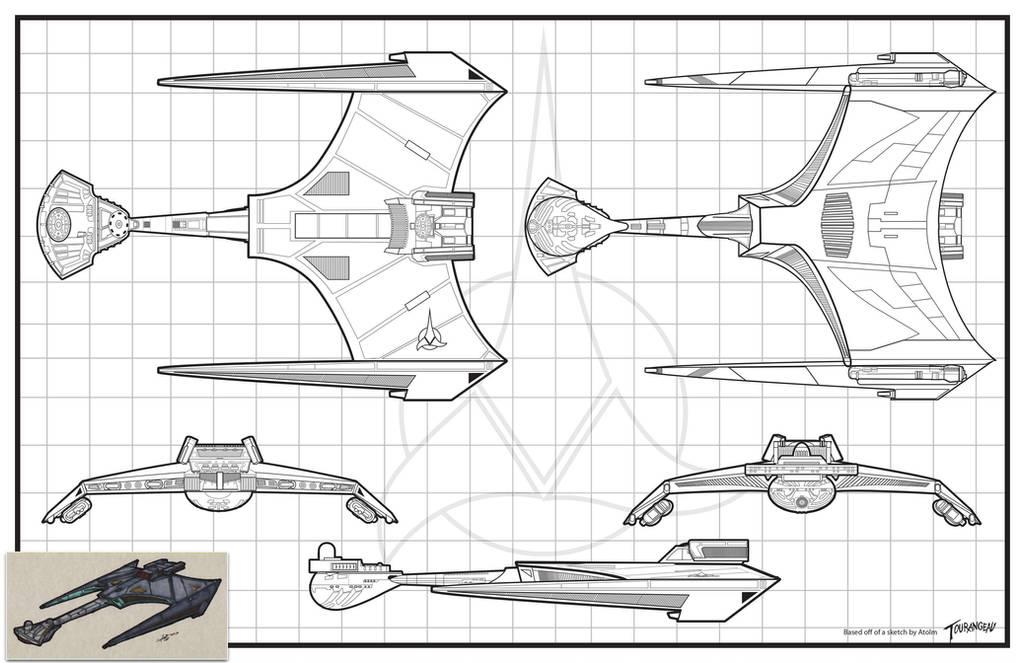 Klingon Battlecruiser - Atolm Inspired by stourangeau