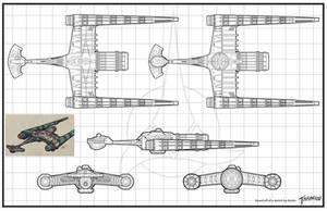 Klingon Pre TOS Sarcophgus Ship Grid by stourangeau