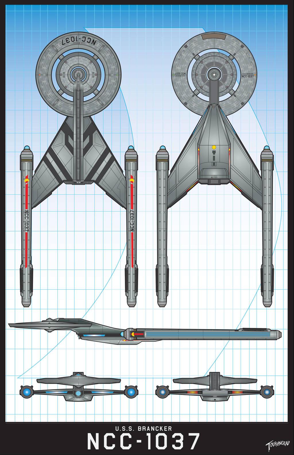 U.S.S.Bancker NCC-1037 by stourangeau