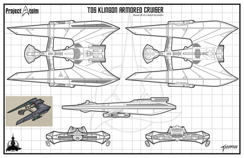 Klingon Pre TOS Armored Cruiser by stourangeau