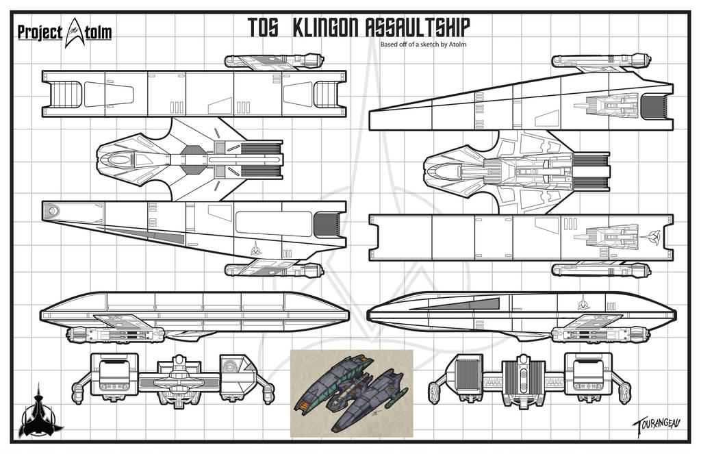 Klingon Pre TOS Assaultship by stourangeau