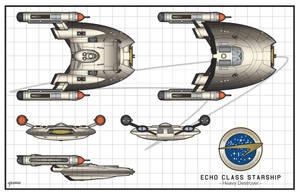 Echo Class Heavy Destroyer by stourangeau